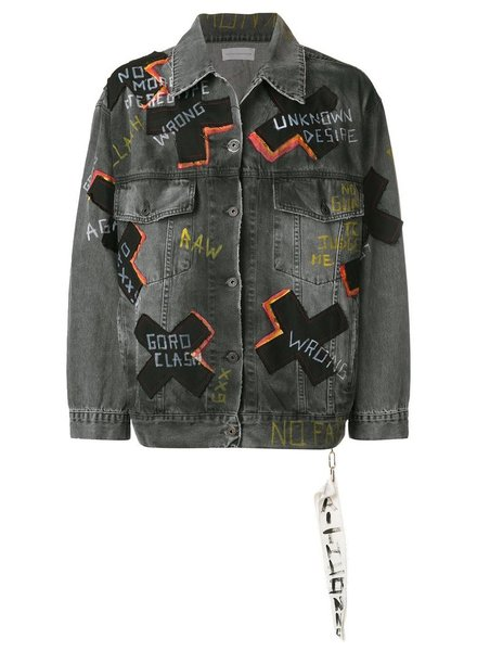 FAITH CONNEXION FAITH CONNEXION WOMEN PATCH WORK DENIM JACKET