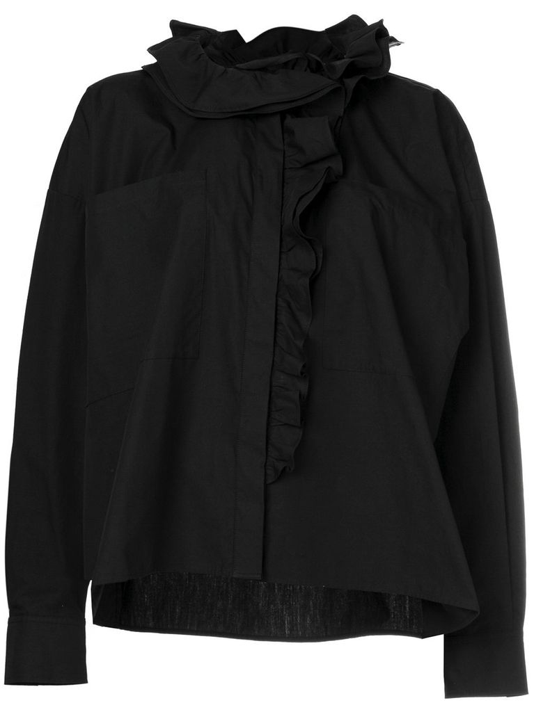 FAITH CONNEXION FAITH CONNEXION WOMEN OVERSIZE RUFFLE SHIRT