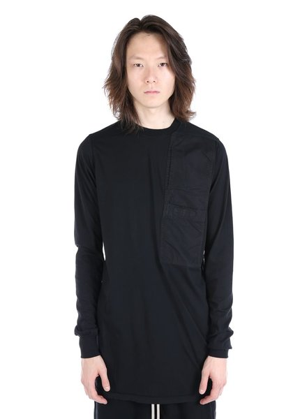 RICK OWENS DRKSHDW DRKSHDW MEN POCKET LONG SLEEVE TEE