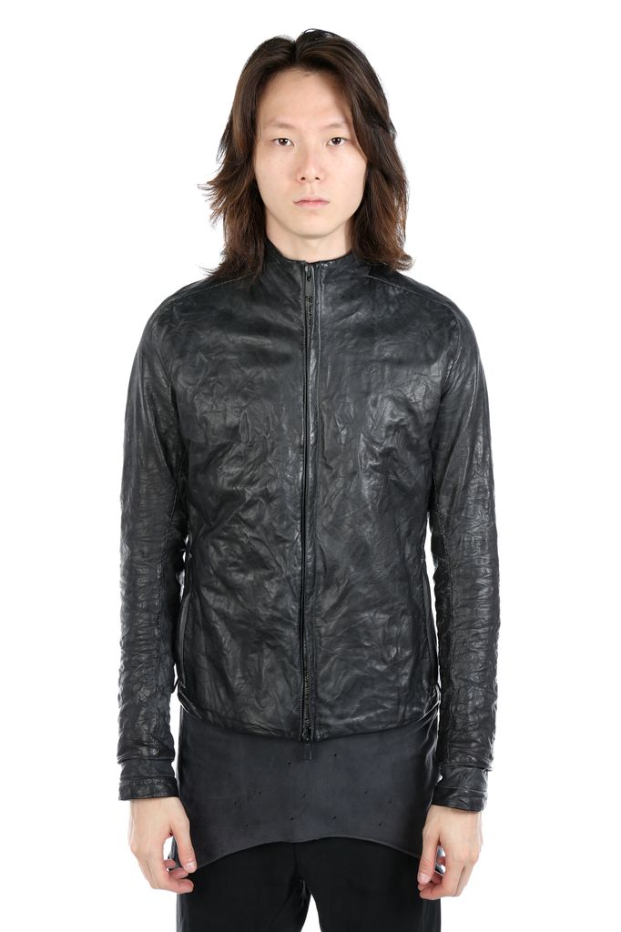 LAYER-0 LAYER-0 MEN ZIP UP LEATHER JACKET
