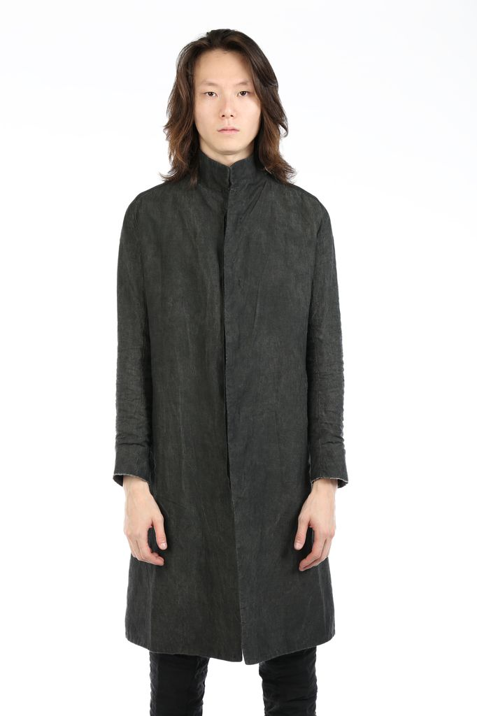 LAYER-0 LAYER-0 MEN LINEN TRENCH COAT