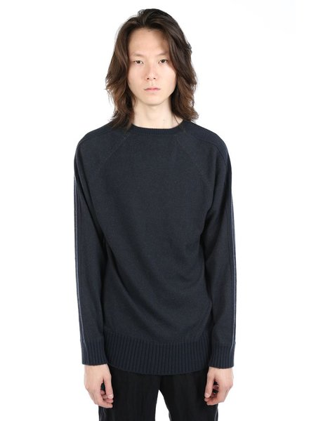 ZIGGY CHEN ZIGGY CHEN MEN BABY CASHMERE RIBBED CUFF SWEATER