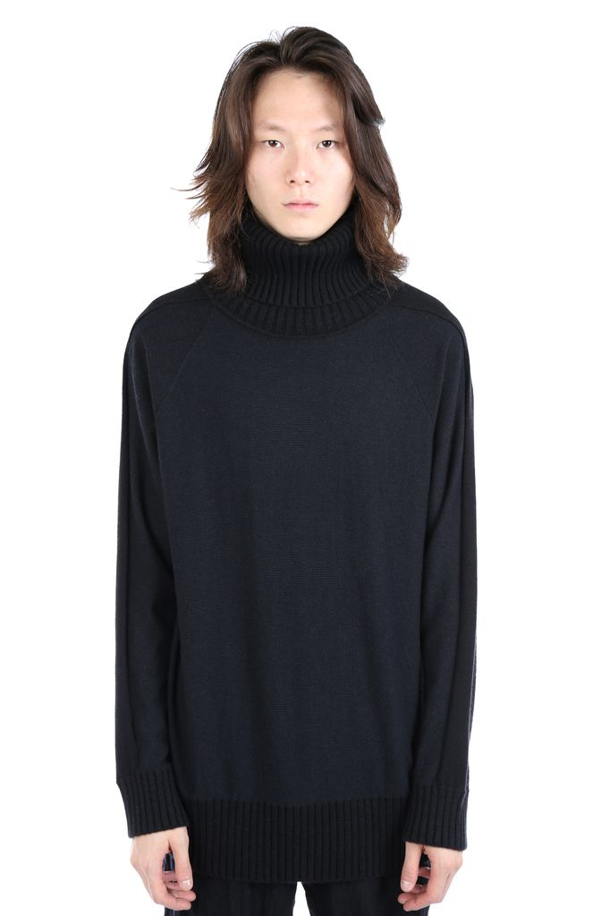 ZIGGY CHEN ZIGGY CHEN MEN TURTLE NECK LONG BABY CASHMERE SWEATER