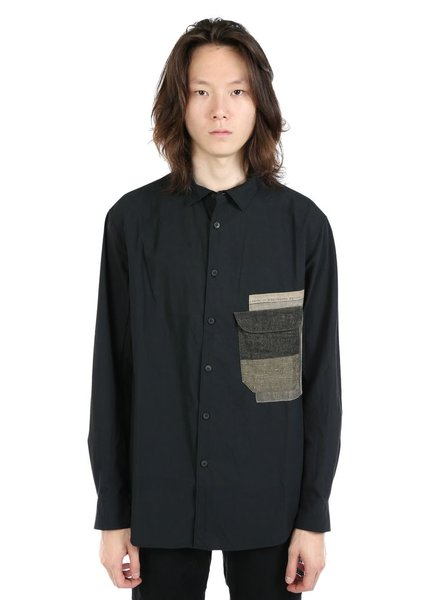 ZIGGY CHEN ZIGGY CHEN MEN PATCH WORK POCKET SHIRT
