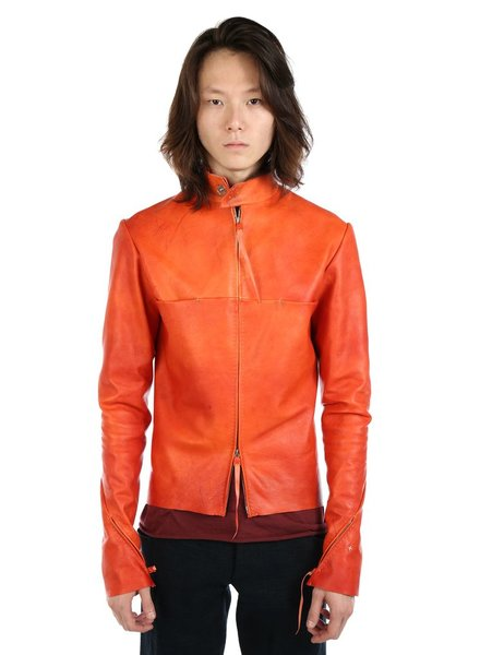 MA+ MA+ MEN ZIPPED SLEEVES UNLINED BIKER JACKET