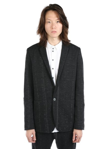 LABEL UNDER CONSTRUCTION LABEL UNDER CONSTRUCTION MEN SLIM FIT LADDERED JACKET