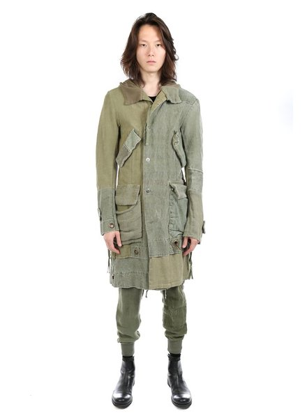 GREG LAUREN GREG LAUREN MEN ANTIQUE HEMP DUFFLE PARKA