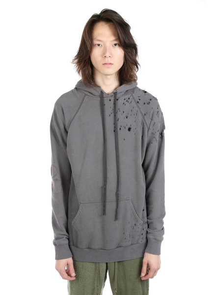 GREG LAUREN GREG LAUREN MEN DESTROYED HERO HOODIE