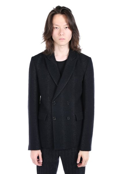 ANN DEMEULEMEESTER ANN DEMEULEMEESTER MEN GLITTER DOUBLE BREASTED JACKET