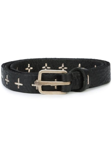 "MA+ MA+ ""+"" STUDDED Q BUCKLE MED BELT"