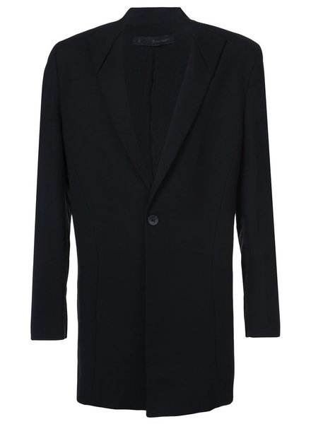 THAMANYAH THAMANYAH COTTON/LINEN ONE BUTTON LONG JACKET