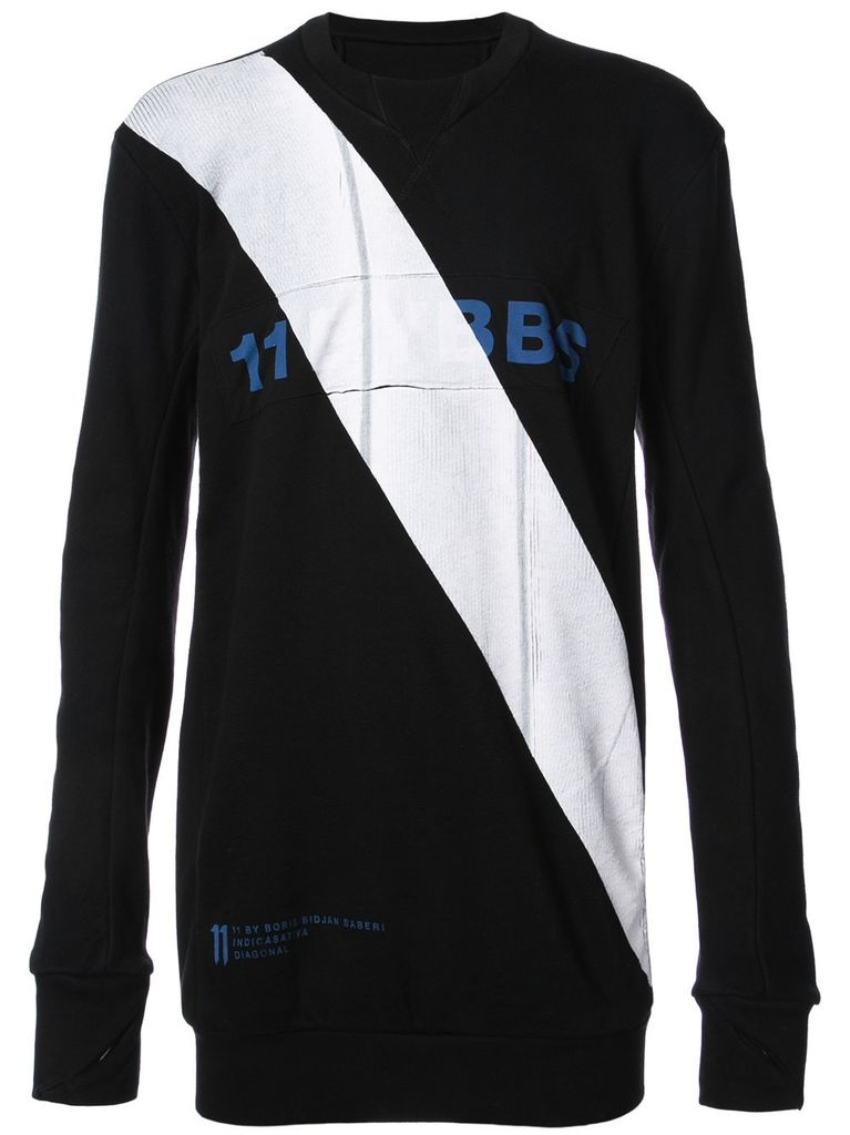 11 BY BORIS BIDJAN SABERI 11 BY BORIS BIDJAN SABERI MEN DIAGONAL LOGO SWEAT SHIRT