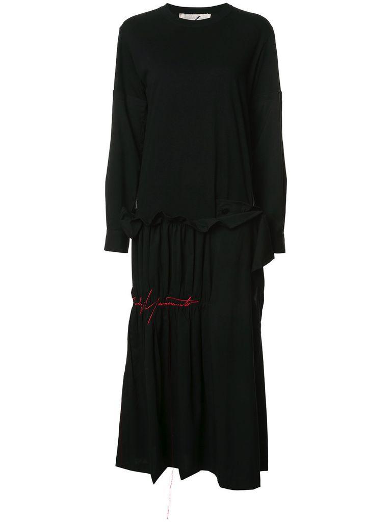 YOHJI YAMAMOTO YOHJI YAMAMOTO WOMEN COMBO T-SHIRT DRESS