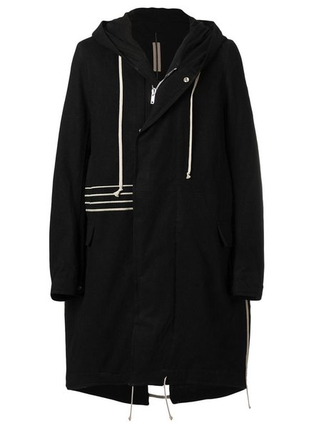 RICK OWENS DRKSHDW DRSKHDW MEN SPHINX EMBROIDERY FISHTAIL PARKA