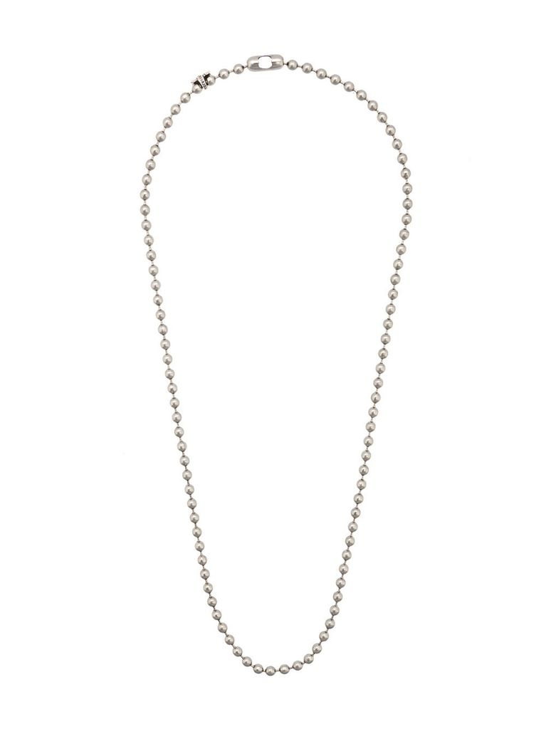 CODY SANDERSON CODY SANDERSON STAINLESS STEEL BALL CHAIN 28'' WITH C*S TAGS