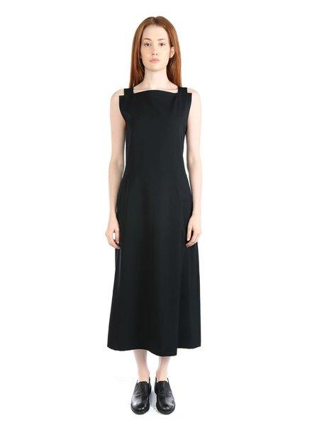 YOHJI YAMAMOTO YOHJI YAMAMOTO WOMEN WOOL GABARDINE DRESS