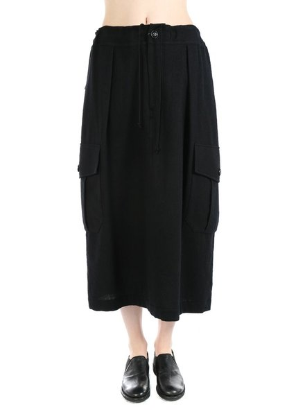 Y'S Y'S WOMEN SIDE POCKET SKIRT