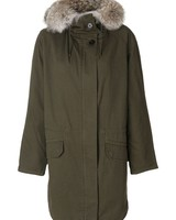 ARMY YVES SALOMON ARMY YVES SOLOMON WOMEN PARKA IN COTTON AND RABBIT FUR