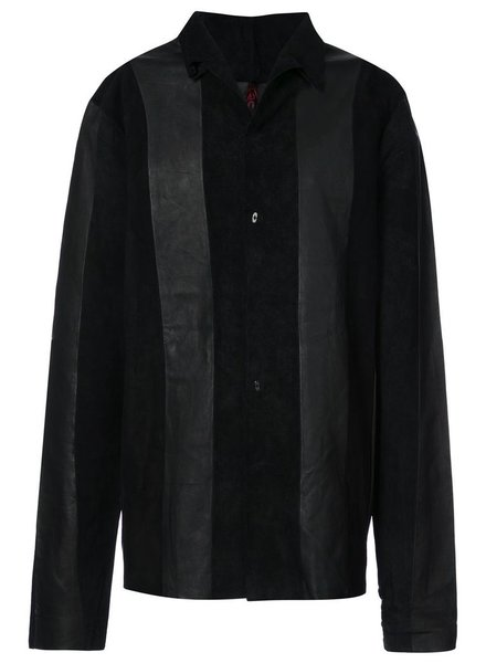MA+ MA+ LEATHER SHIRT BLACK 52