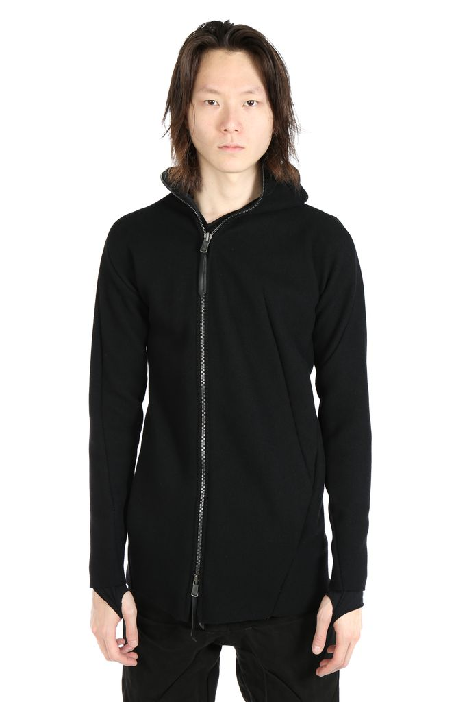 LEON EMANUEL BLANCK LEON EMANUEL BLANCK MEN DISTORTION ZIPPED HOODIE
