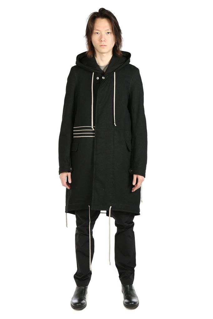 RICK OWENS DRKSHDW DRKSHDW MEN SPHINX EMBROIDERY FISHTAIL PARKA