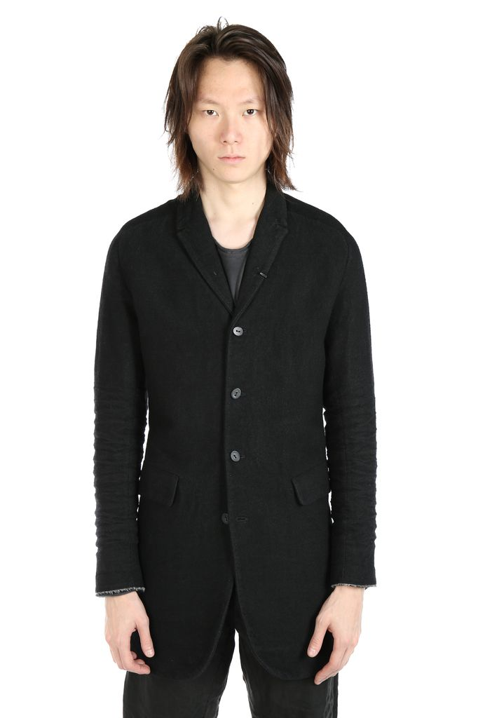 LAYER-0 LAYER-0 MEN WOOL CLASSIC LONG JACKET