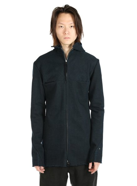 MA+ MA+ MEN UNLINED LONG HOODED AVIATOR JACKET