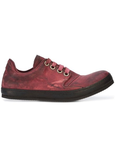 A DICIANNOVEVENTITRE A1923 MEN KANGAROO LEATHER LOW TOP SNEAKER