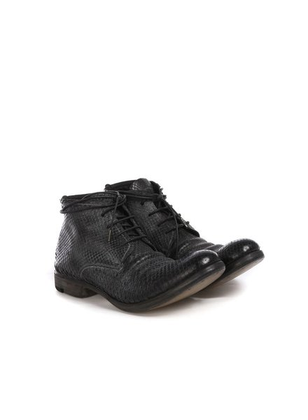 LAYER-0 LAYER-0 MEN PYTHON LEATHER ANKLE BOOTS