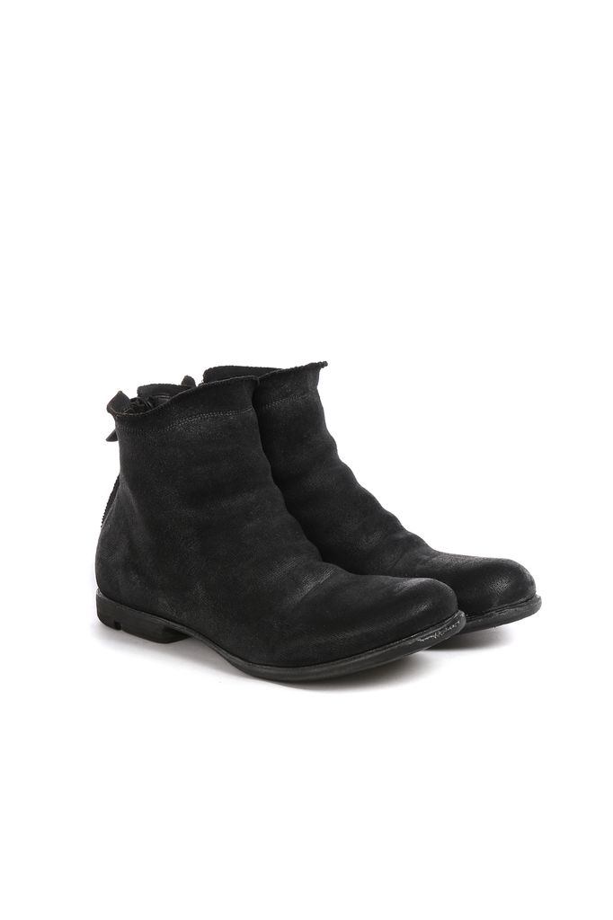 LAYER-0 LAYER-0 MEN JERSEY OVER LEATHER BACK ZIP BOOT