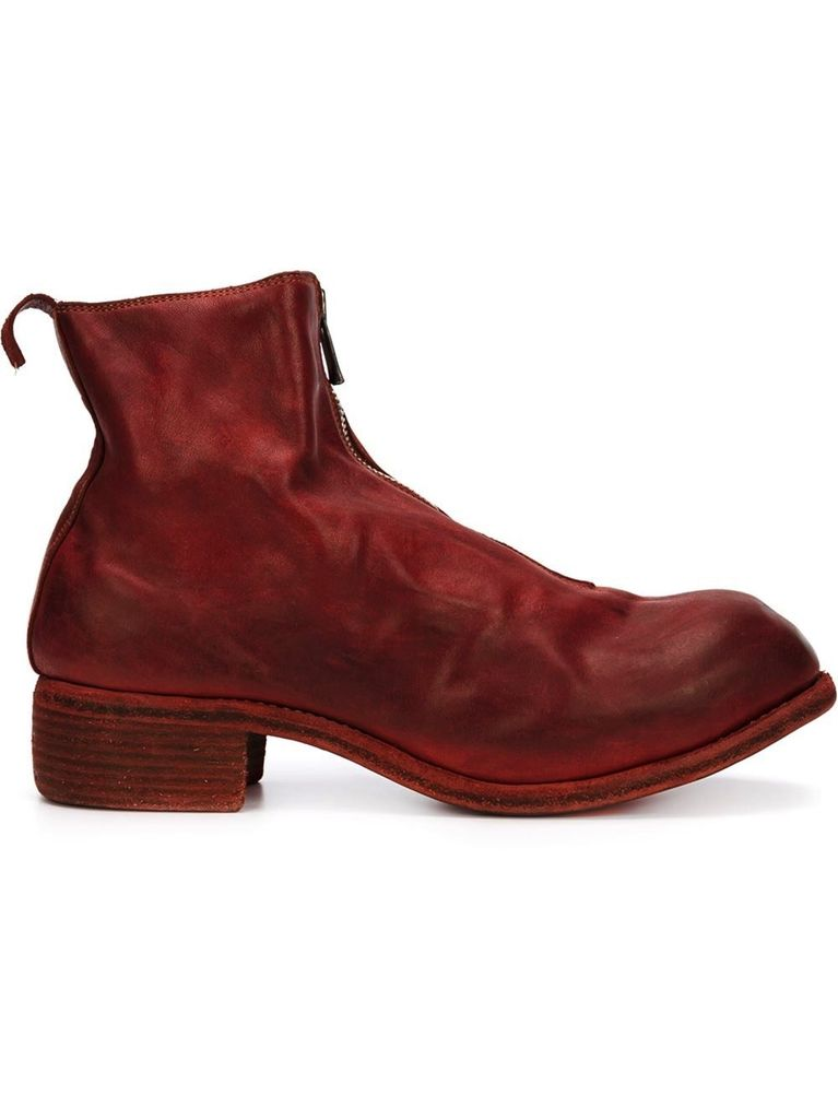 GUIDI PL1 GUIDI WOMEN SOFT HORSE LEATHER FRONT ZIP BOOT