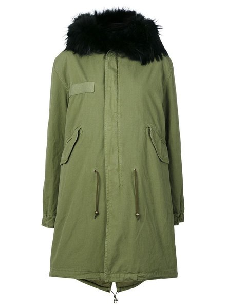 MR & MRS ITALY MR & MRS ITALY RACCOON FUR COLLAR PARKA
