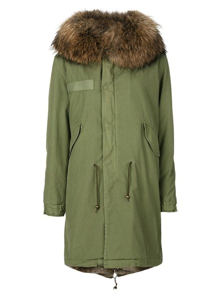 MR & MRS ITALY MR & MRS ITALY RABBIT FUR LINING PARKA WITH RACCOON FUR COLLAR