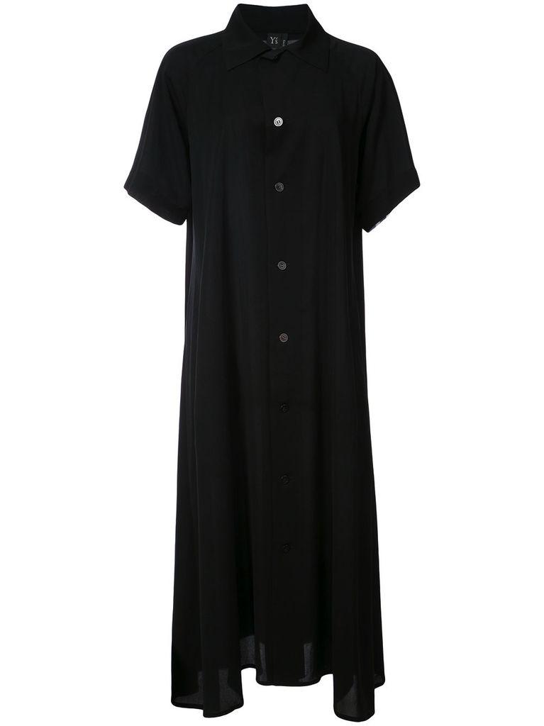 Y'S Y'S WOMEN OPEN COLLAR SHIRT DRESS