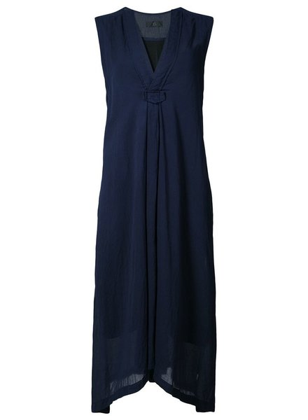 Y'S Y'S WOMEN V NECK SLEEVELESS DRESS