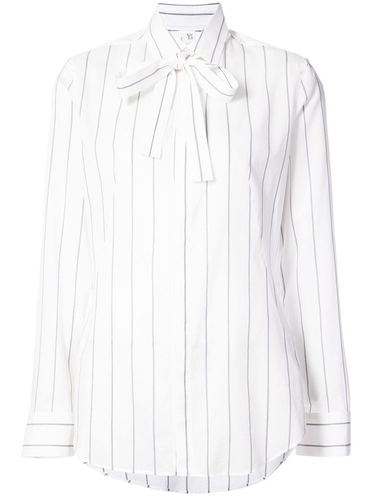 Y'S Y'S WOMEN STRIPED TIE FRONT SHIRT