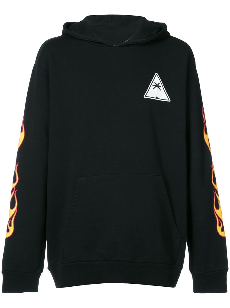 PALM ANGELS PALM ANGELS MEN PALMS AND FLAMES HOODIE