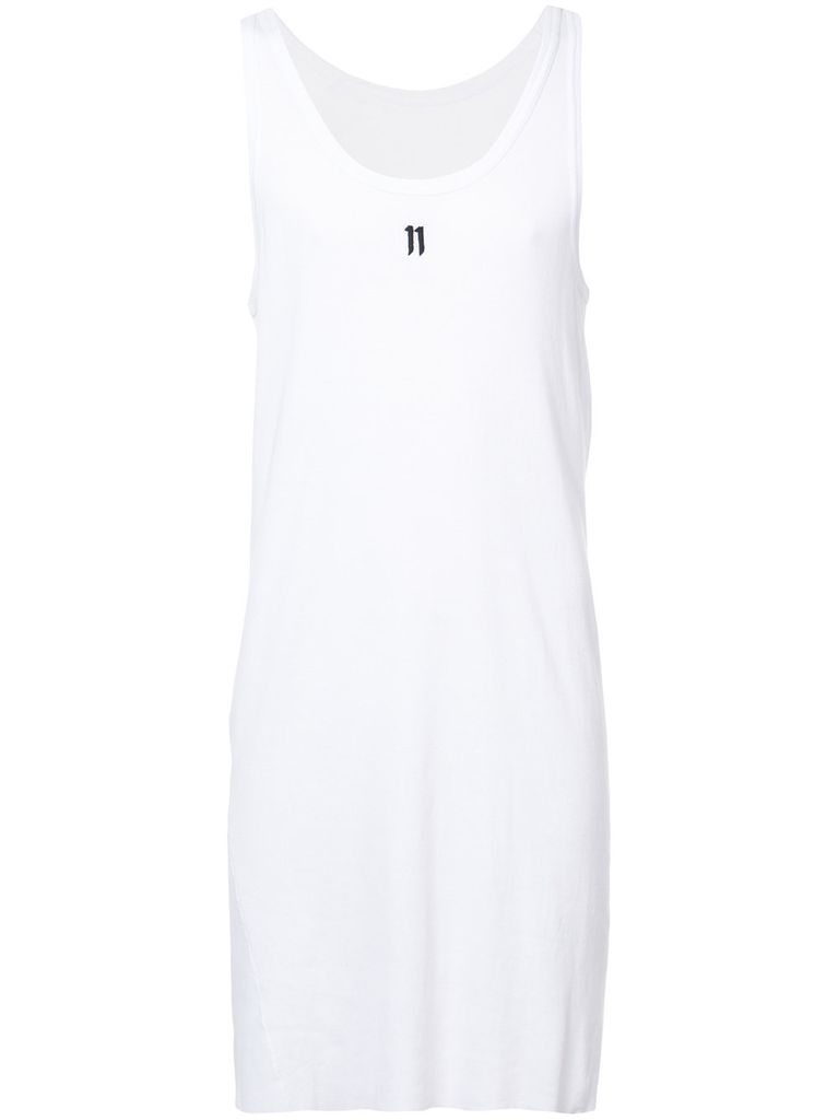 11 BY BORIS BIDJAN SABERI 11 BY BORIS BIDJAN SABERI MEN LOGO & TYPE TANK TOP WITH CONTRASTED LABEL