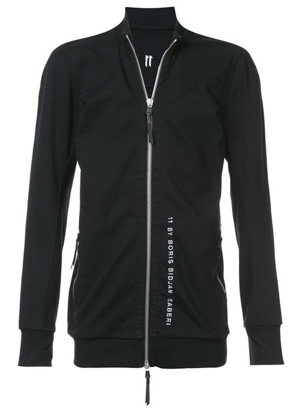 11 BY BORIS BIDJAN SABERI 11 BY BORIS BIDJAN SABERI MEN LOGO & TYPE ZIP UP TRACK JACKET