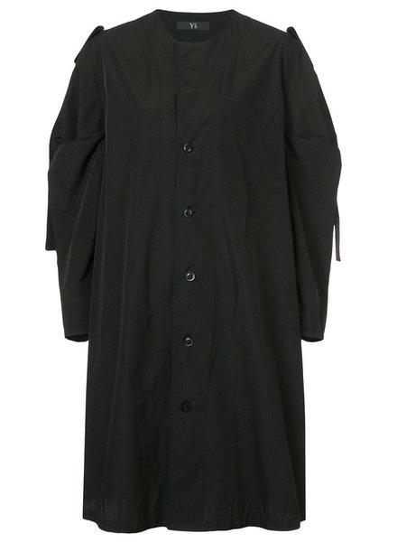 Y'S Y'S WOMEN TUCK SLEEVE DROP DRESS