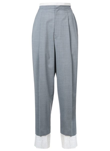 Y'S Y'S WOMEN DOUBLE LAYERED PANTS