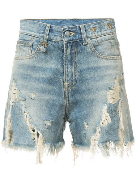 R13 R13 WOMEN SHREDDED SLOUCH SHORT