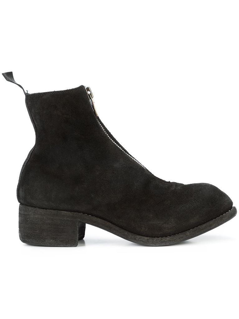GUIDI GUIDI WOMEN REVERSED SOFT HORSE LEATHER FRONT ZIP BOOT
