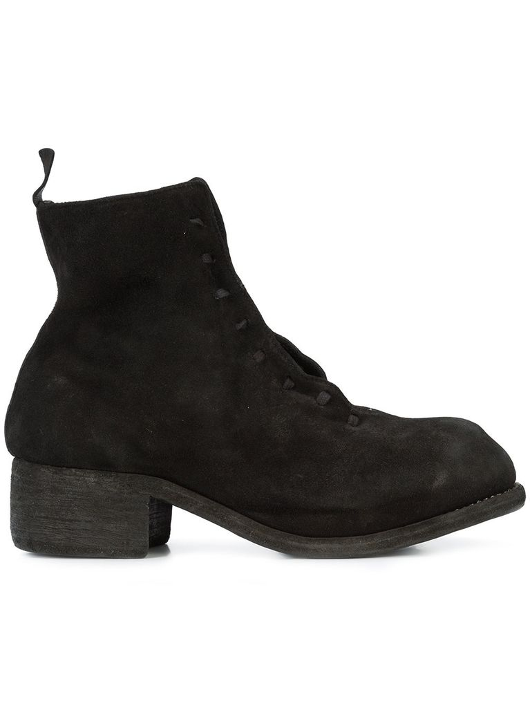 GUIDI GUIDI WOMEN HIDDEN PLATFORM LACE UP BOOT
