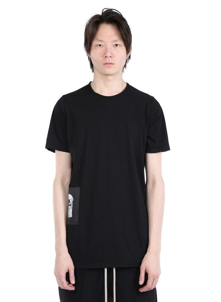 RICK OWENS DRKSHDW DRKSHDW MEN LEVEL TEE WITH PATCHES