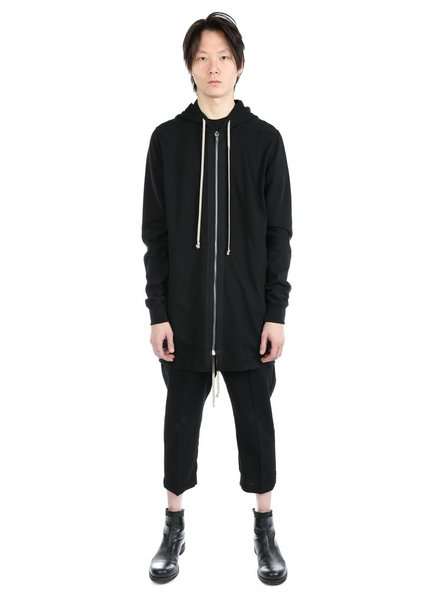 RICK OWENS RICK OWENS MEN LONG SLEEVE DRAWSTRING HOODIE