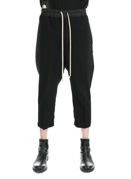 RICK OWENS RICK OWENS MEN DRAWSTRING ASTAIRE CROPPED PANTS