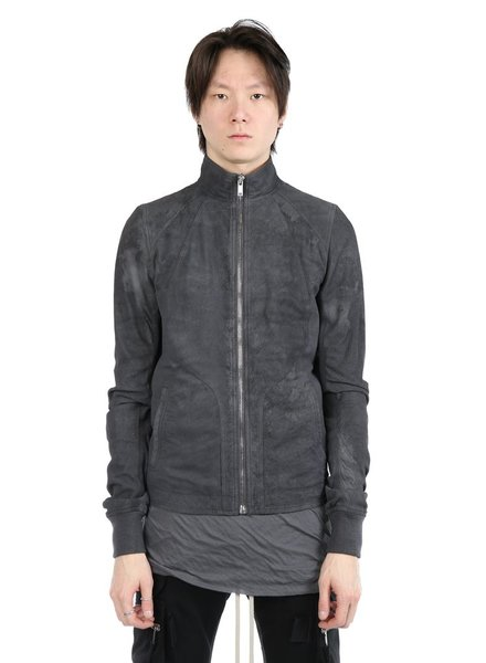 RICK OWENS RICK OWENS MEN INTARSIA LEATHER JACKET