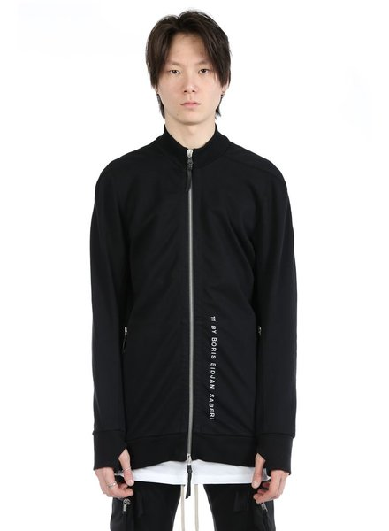 11 BY BORIS BIDJAN SABERI 11 BY BORIS BIDJAN SABERI MEN LOGO AND TYPE ZIP UP TRACK JACKET