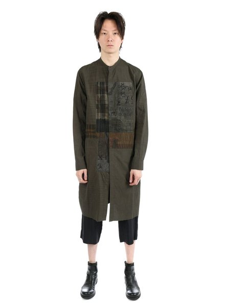 ZIGGY CHEN ZIGGY CHEN MEN PATCHWORK LONG SHIRT